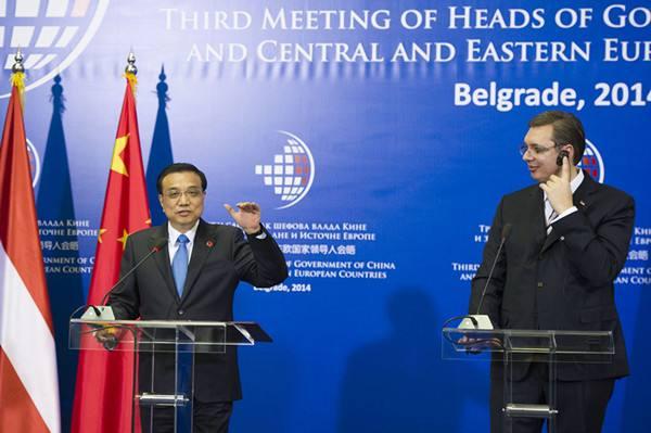 李克强总理在贝尔格莱德出席第三次中国-中东欧国家领导人会晤后,图片
