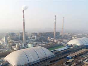 河北邢台:氣膜全封閉煤場抑揚塵