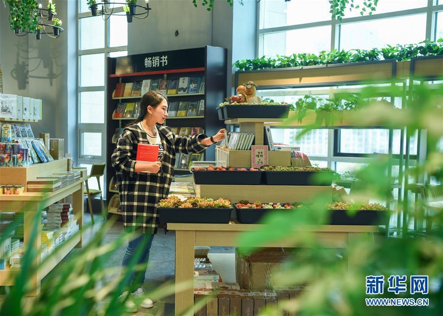 (世界讀書日)(1)綠色生態主題書店亮相瀋陽