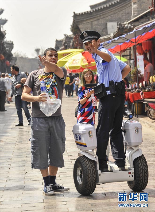 #(社會)(1)警用巡邏平衡車亮相平遙古城