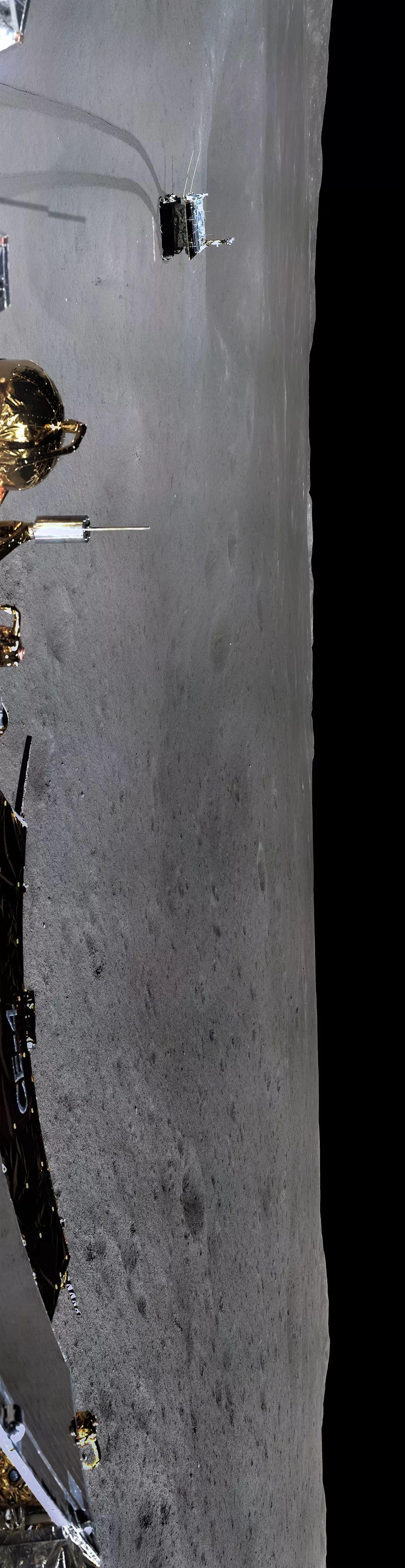 """玉兔号月球全景图_""""月背全景图""""刷屏了,它的正确打开方式,你get到了么?-中工 ..."""