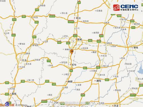 河北邯郸市临漳县发生3.6级地震 震源深度11千米(图)