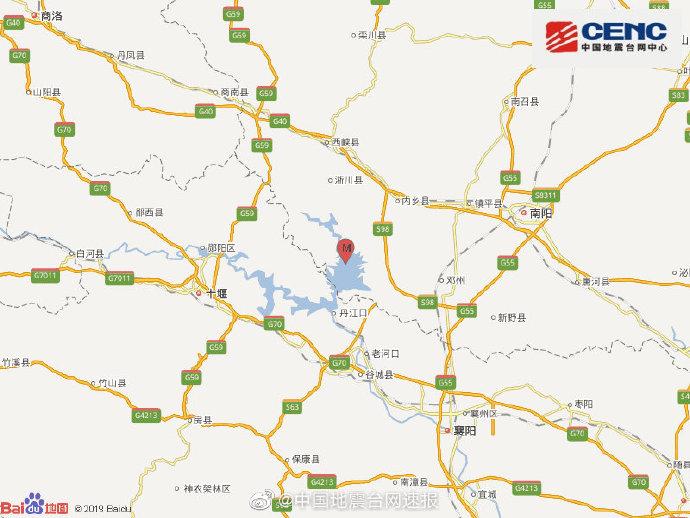 河南南阳市淅川县发生3.6级地震 震源深度9千米(图)